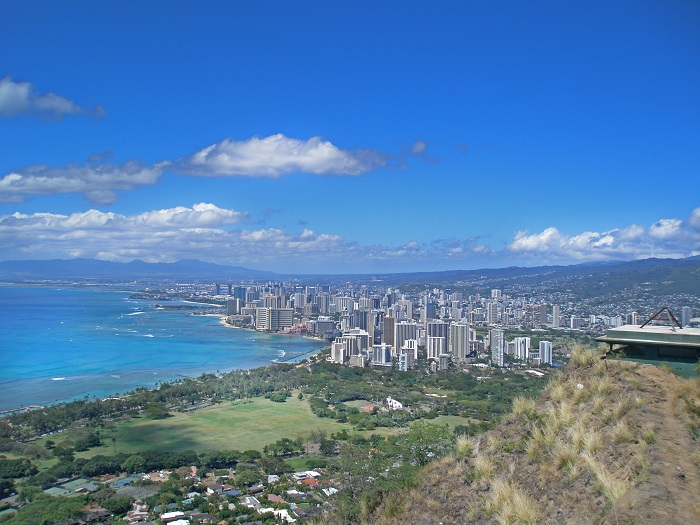 View from Diamond Head Hawaii