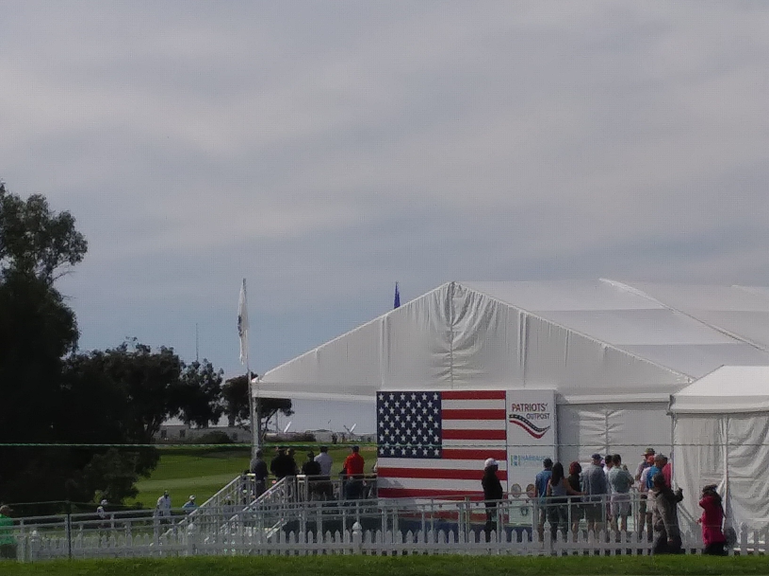 Patriots Tent. PGA Golf Tournament. Torrey Pines, California. Fitlifeandtravel.com