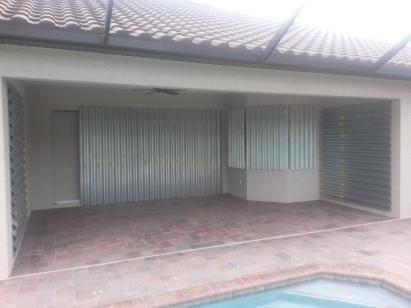 Hurricane shutters installed