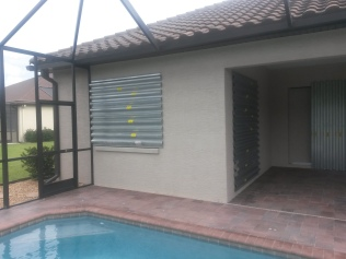 Hurricane shutters installed
