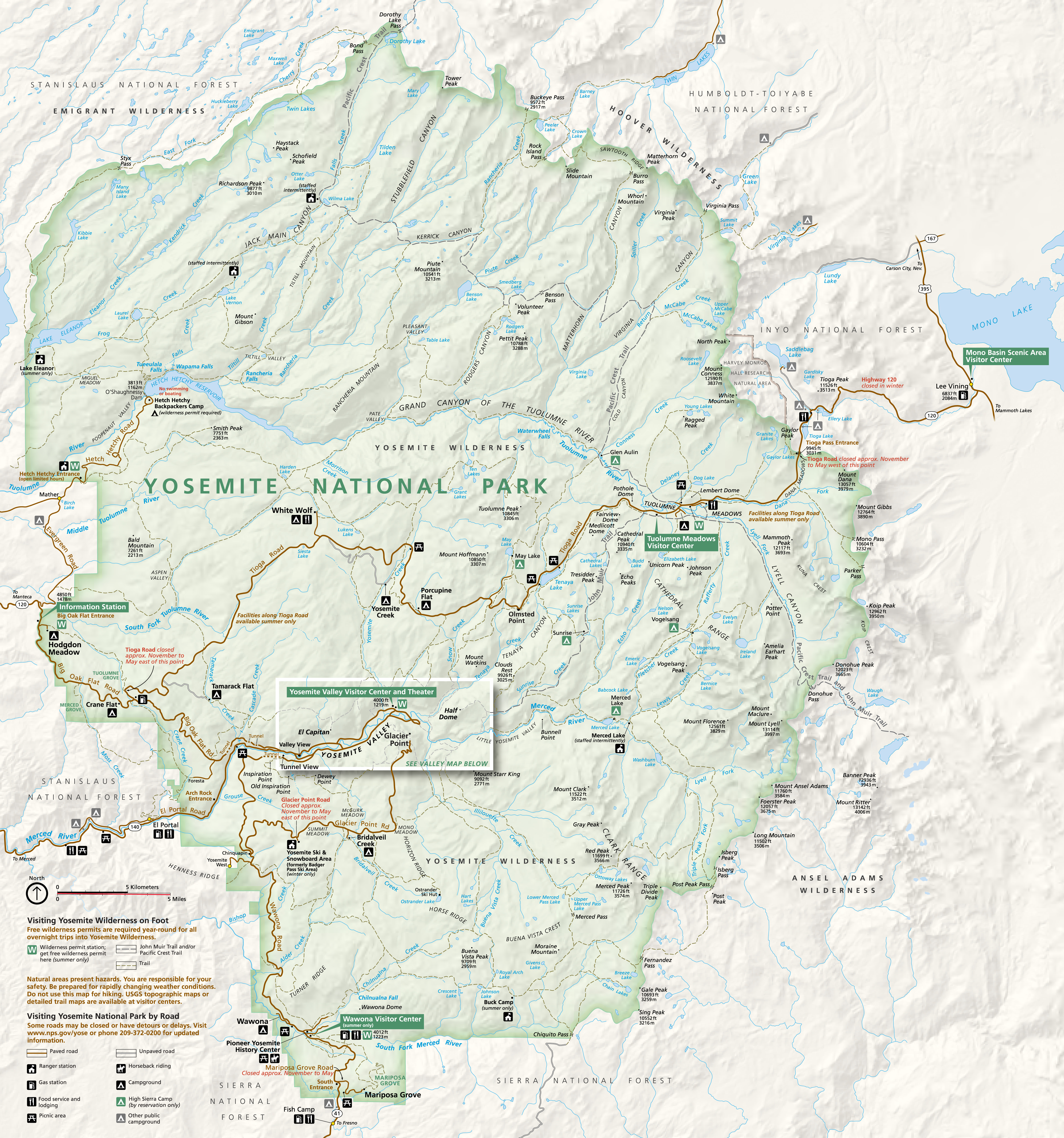 Yosemite Park Map
