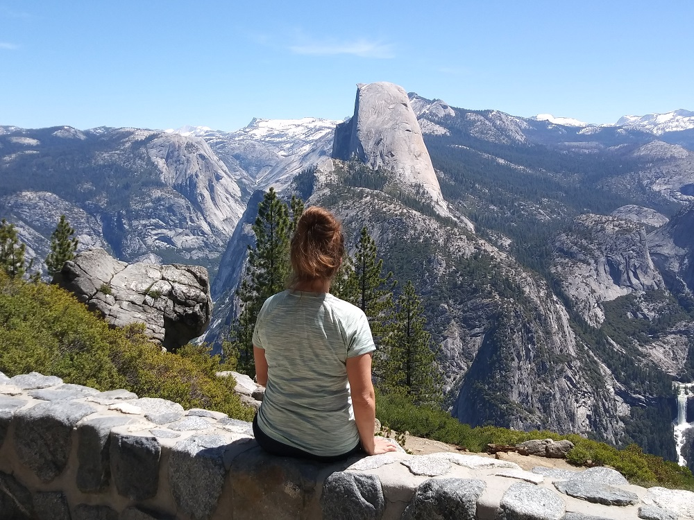 View of Half Dome from Washburn Point, Yosemite National Park, California.