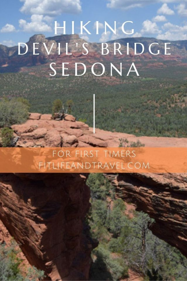First timers hiking Devil's Bridge. Sedona Arizona