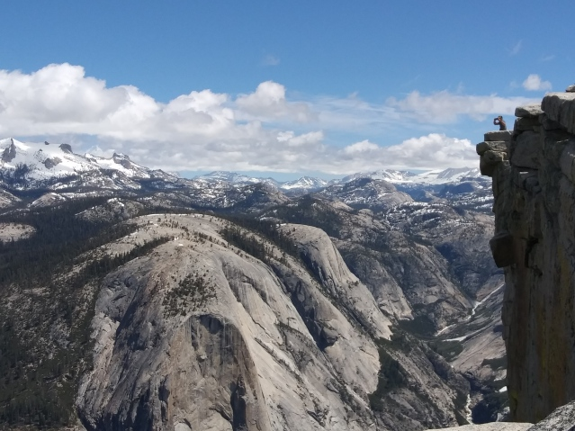 View from the Top of Half Dome, Yosemite National Park.