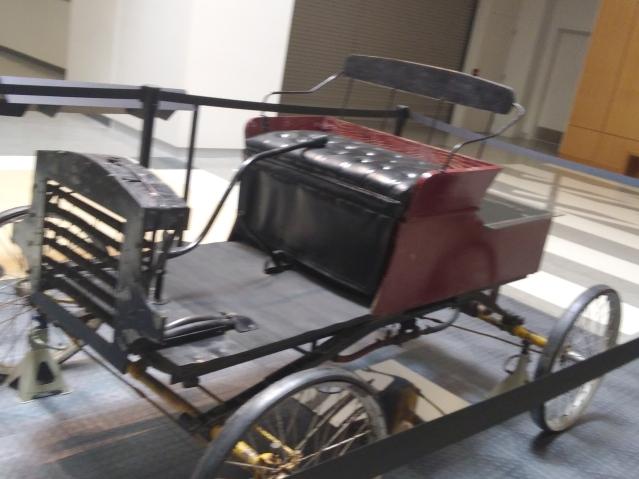 Historic wagon car at North Dakota Heritage Center