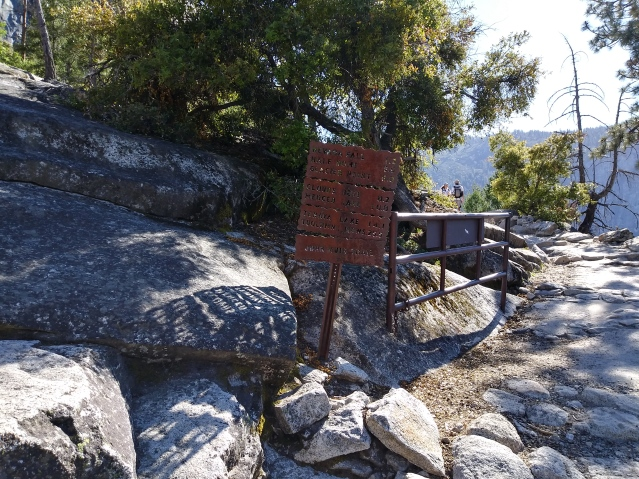 Hiking the John Muir Trail. Yosemite National Park, California.