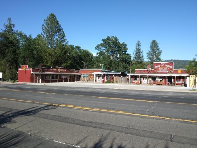 The town of Oakhurst, California.