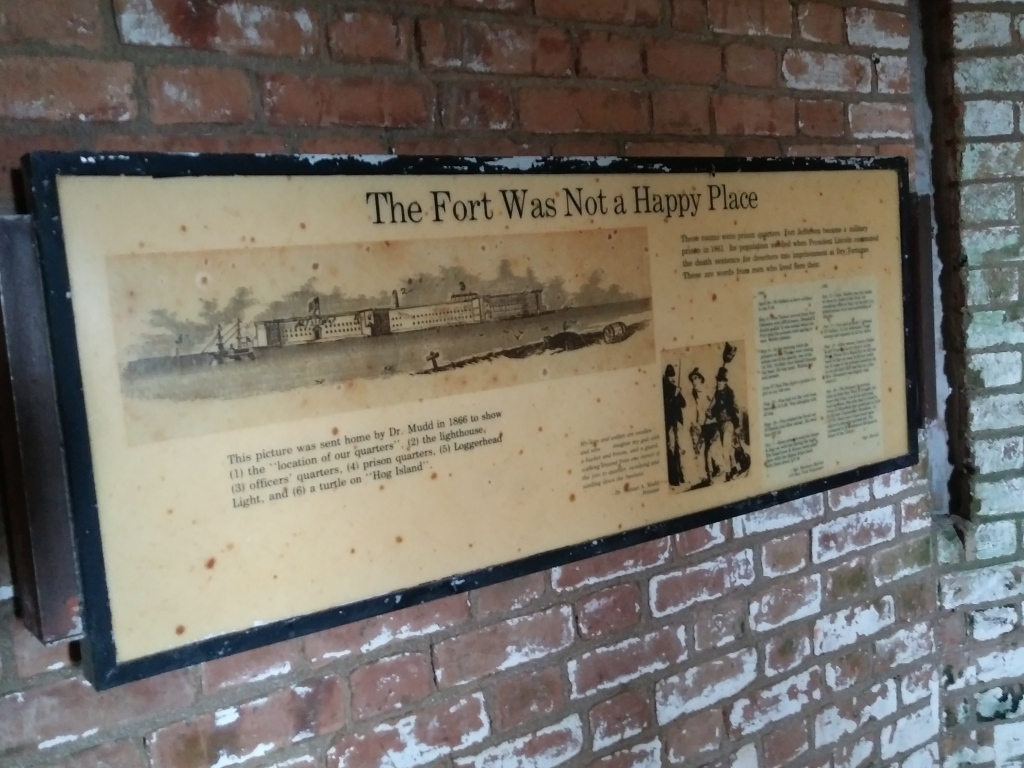 Fort Jefferson information display.