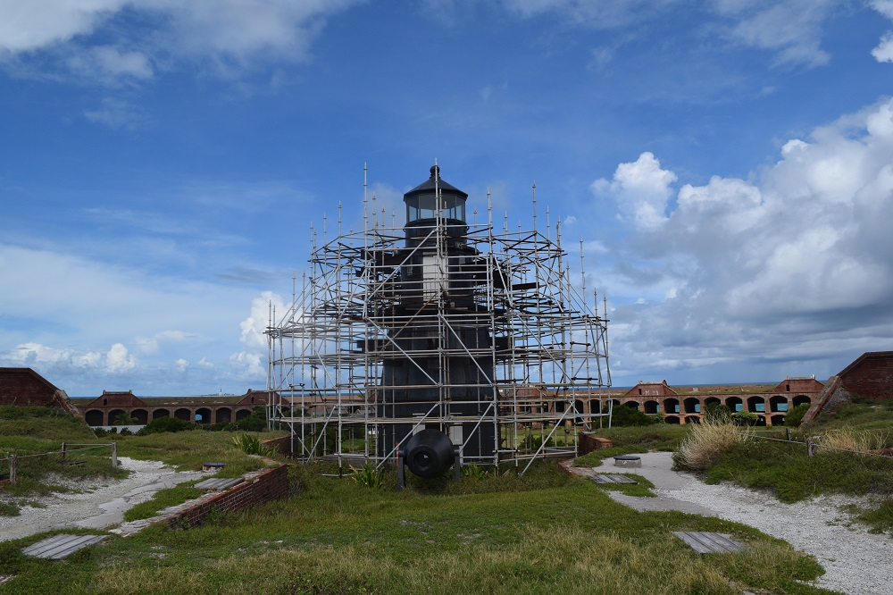 Lighthouse at Fort Jefferson, Dry Tortugas National Park.