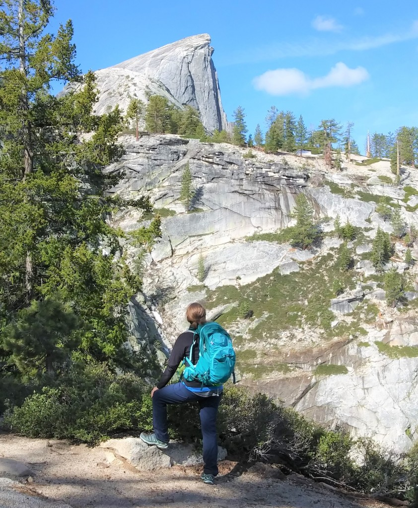 Gifts for Travel Lovers. Wanderlust. Half Dome Hiking in Yosemite National Park. California. FitlifeandTravel.com