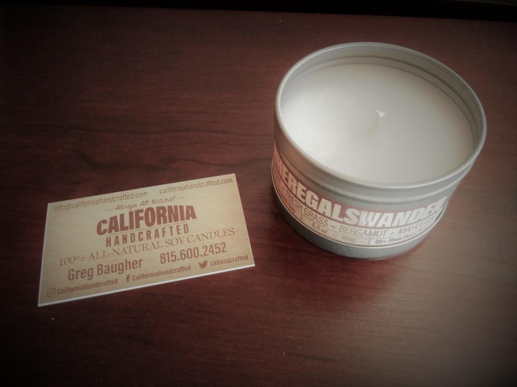 California Handcrafted Candles. WhereGalsWander.com. FitLifeandTravel.com