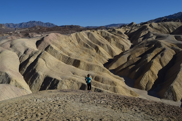 Death Valley N.P. Zabriskie Point. California. FitlifeandTravel.com