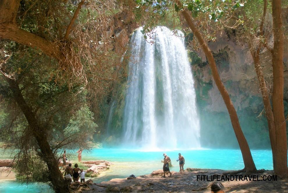 Havasu Falls. Havasupai, Grand Canyon National Park. FitlifeandTravel.com