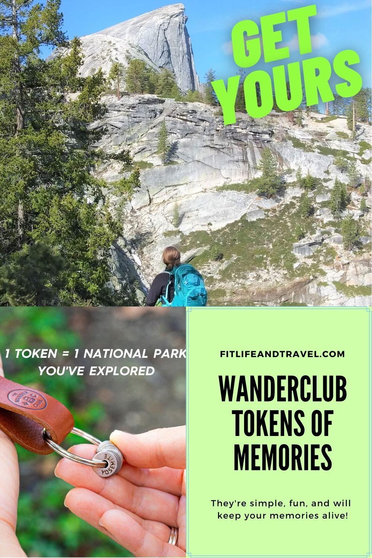 WanderClub Tokens. Yosemite National Park, Memories.