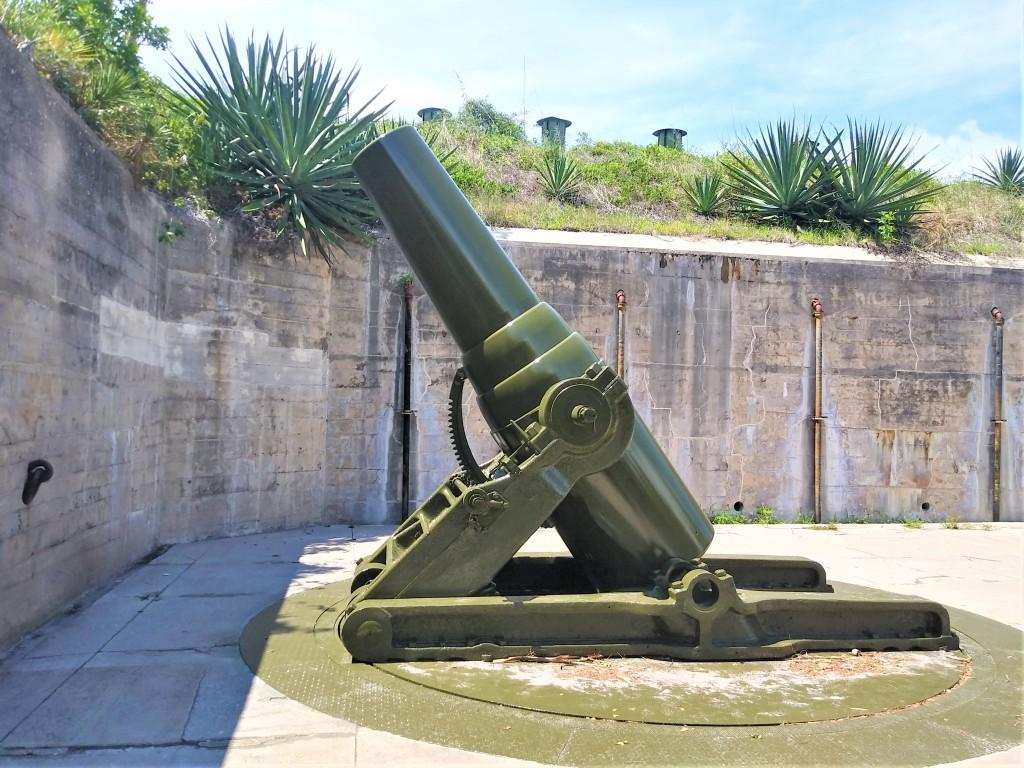 Mortars. Fort De Soto Beach and Park, Florida. Fitlifeandtravel.com