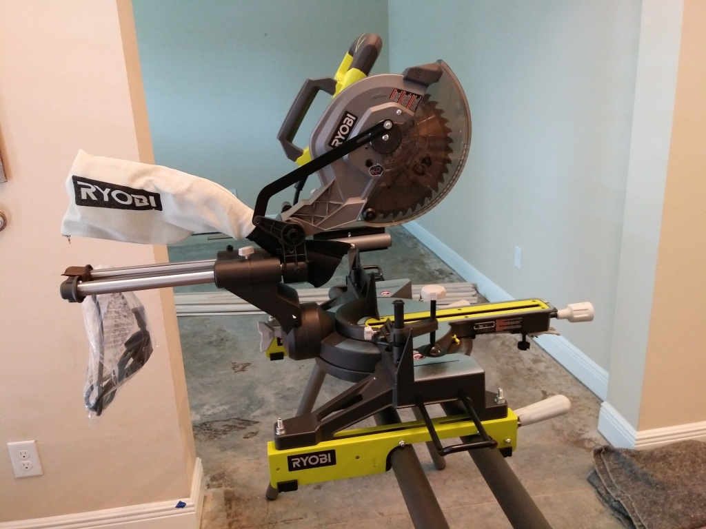 Miter Saw. Tools needed for Wood Floor Installation. DYI Adventures. FitlifeandTravel.com