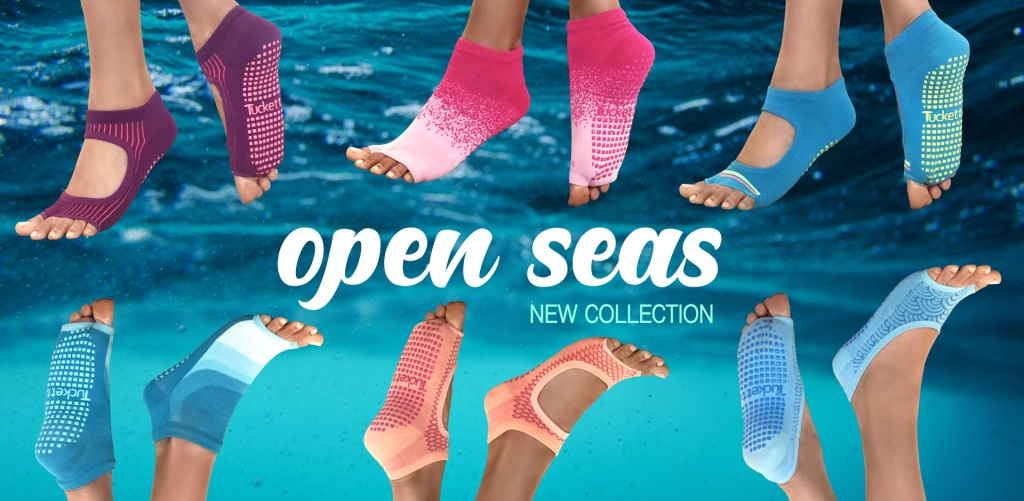 Open Toe Socks with Grip. Tucketts.com. FitlifeandTravel.com