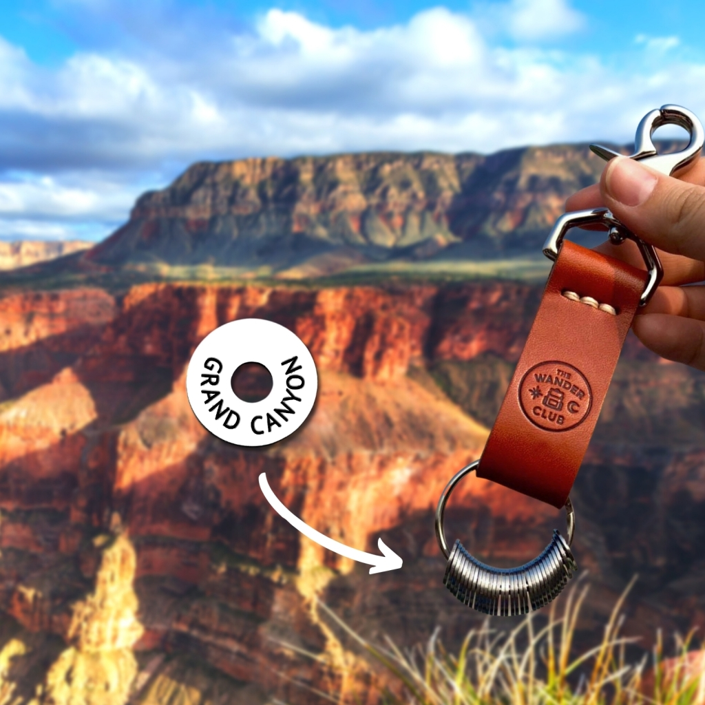 The Wander Club tokens and chain. FitlifeandTravel.com National Parks.