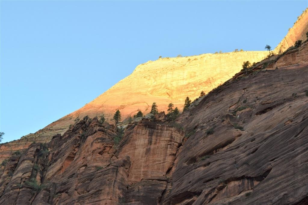 Sunrise hiking at Zion National Park