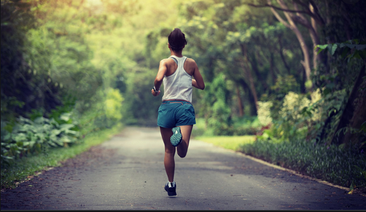 Running is great aerobic exercise.